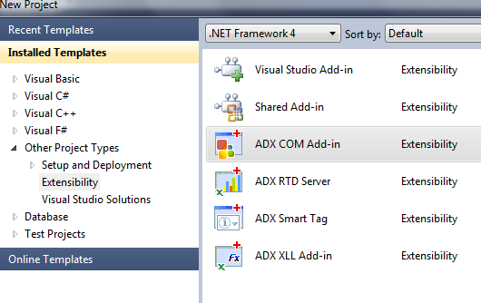 Creating a new Add-in Express COM Add-in