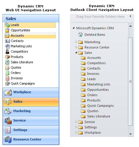 Creating the CRM folder layout in Outlook