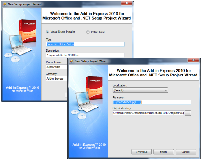Deploying your MS Office solutions: MSI, ClickOnce