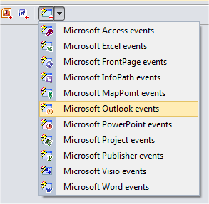 Adding the ADXOutlookAppEvents component to the add-in module