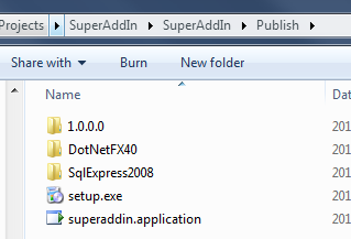 Folders for each prerequisite has been created in the same folder as your applications' publish folder