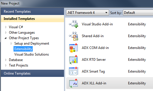 Add-in Express XLL Add-in project