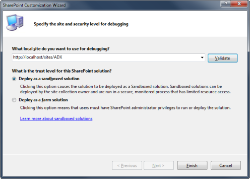 SharePoint Customization Wizard