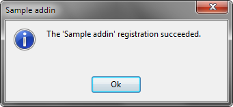 Registration succeeded dialog