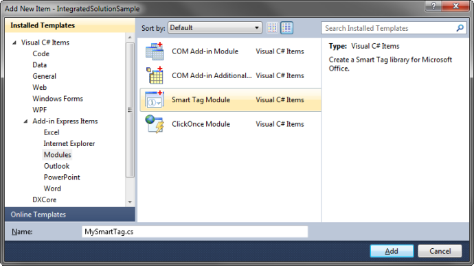 Integrated Office solutions for Outlook, Excel, Word: COM