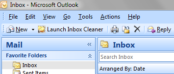 Custom button in-between Outlook's built-in New and Print buttons