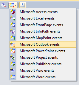 Adding a new Microsoft Outlook events component
