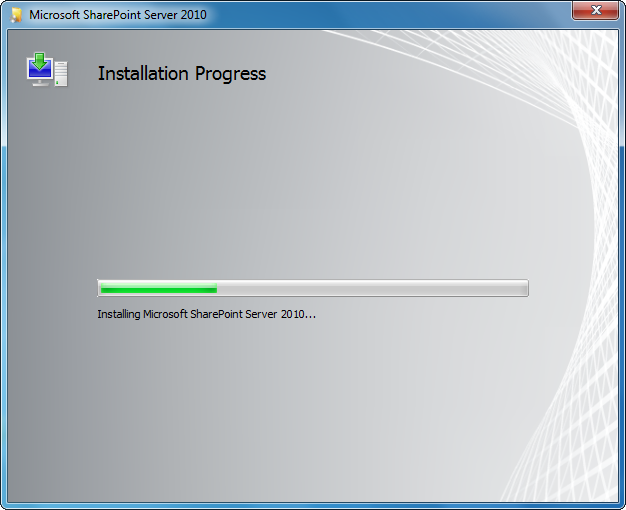 SharePoint is installing