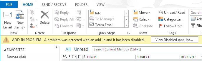 outlook email download langsam