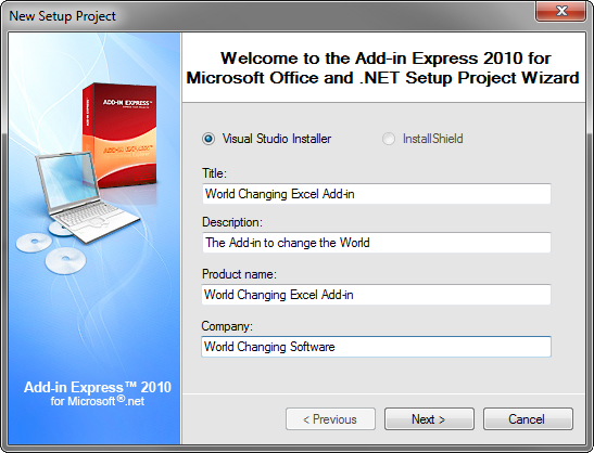 Office add-in deployment in Visual Studio 2012, 2010: Add-in