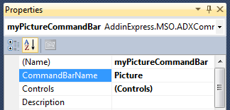 Adding your own controls to a built-in Excel Picture command bar
