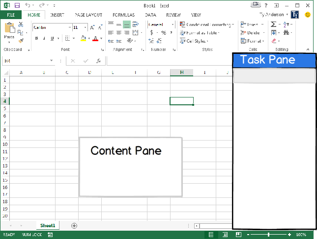 Excel Content Panes vs Task Pane apps
