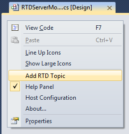 Adding an RTD topic