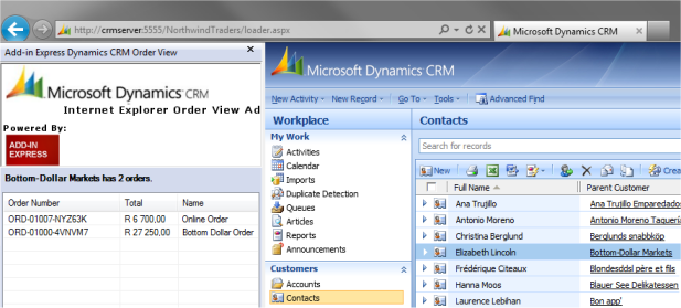 Custom Internet Explorer Add-on for Dynamics CRM