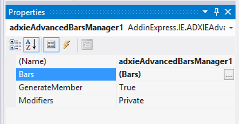 Adding a new Advanced bar item to the Advanced Bars Manager