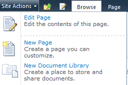 Creating a new document library in SharePoint