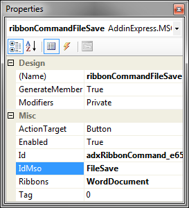 How to intercept clicking an Office Ribbon control or