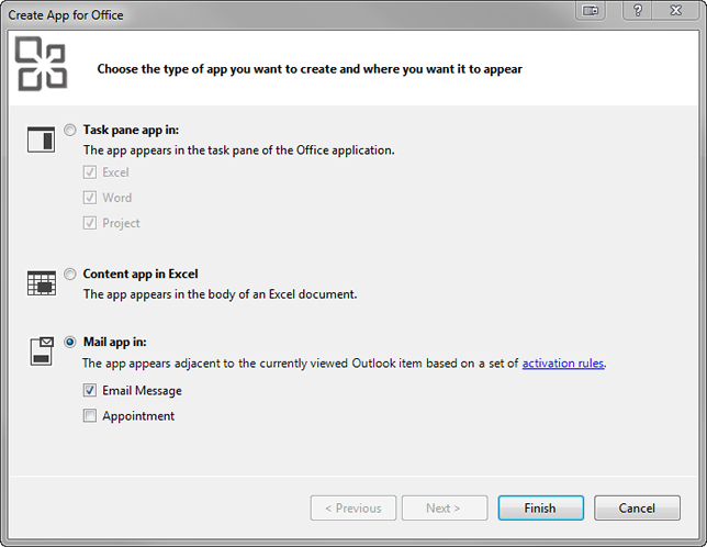 How to create a Mail App for Outlook in Visual Studio 2012