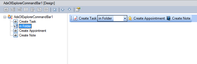 Custom Outlook command bar design