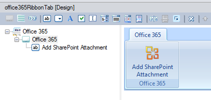 Custom Ribbon Group in the Add-in Express visual designer
