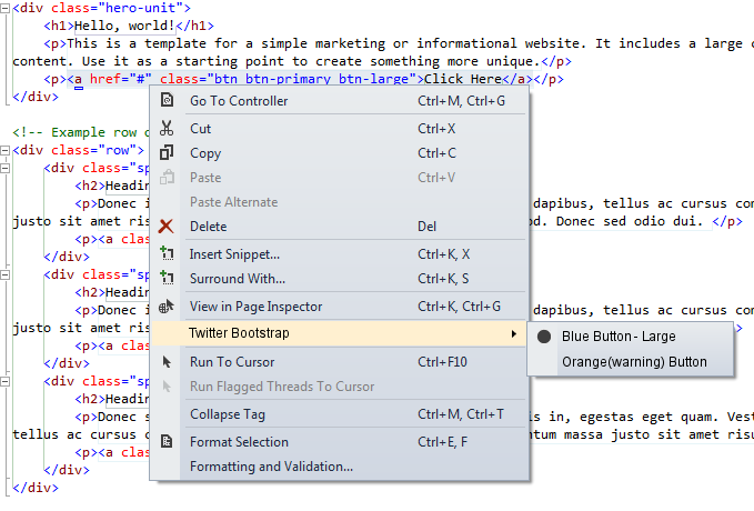 Visual Studio editor extensions