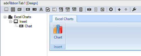 Creating a custom ribbon tab with a button, clicking on which will create a chart