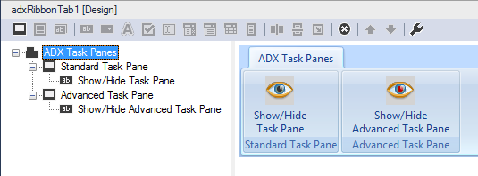 Showing and hiding the advanced Excel task pane programmatically