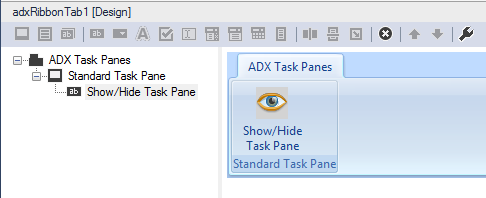 Controlling the visibility of a standard Excel task pane