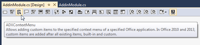 Adding the context menu component