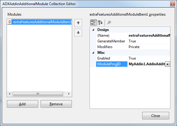 Adding the additional module to the main module's Modules property.