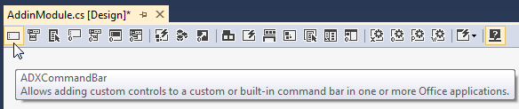 Creating a custom Outlook commandbar