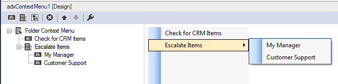Building a custom Outlook context menu