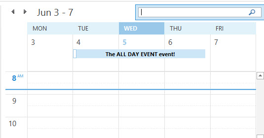 Working with Outlook calendar (appointment and meeting items