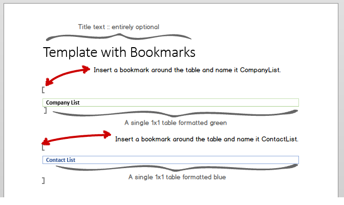 Design of the page with bookmarks