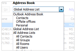 accessing the Global Address List