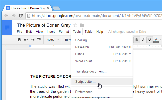 create google docs add on with apps scripts
