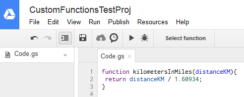 Creating a custom function for Google Sheets