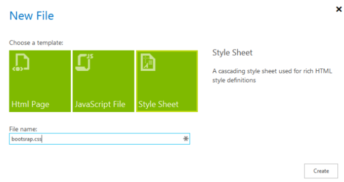 Select Style Sheet and type a name for the file.