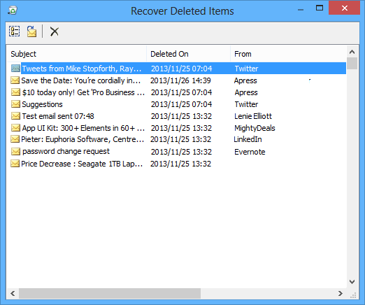 Recovering Deleted Items in an Outlook Exchange based account