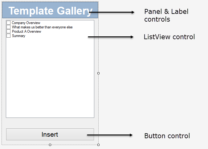 Designing an advanced PowerPoint task pane