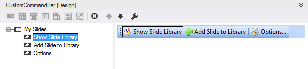 Designing a custom PowerPoint toolbar in Visual Studio