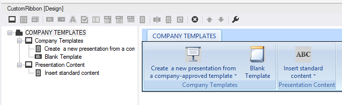 Designing a custom ribbon for PowerPoint 2013 – 2007 in Visual Studio