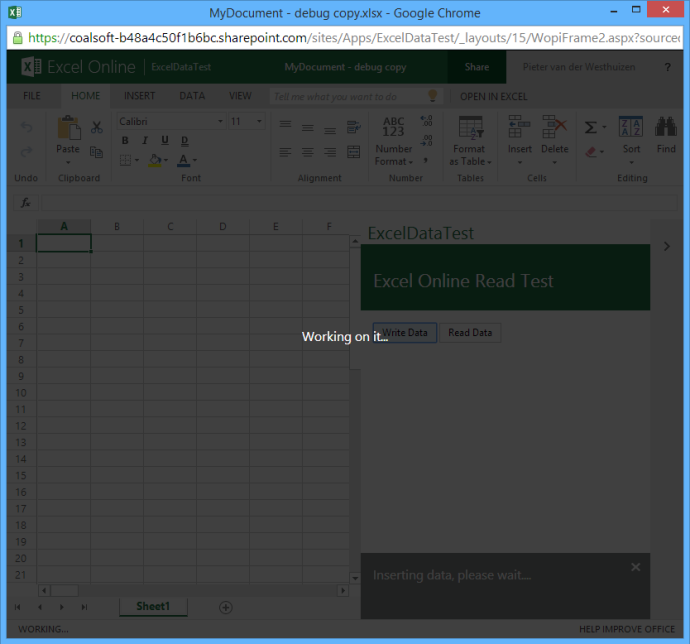 Excel Online handling large amounts of data