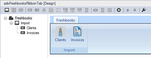 Design your custom Outlook ribbon tab.