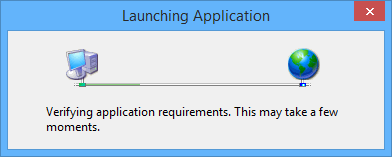 The Launching Application dialog