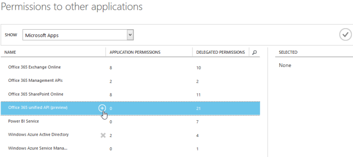If you are using the Unified API, click on the plus icon next to Office 365 unified API (preview).