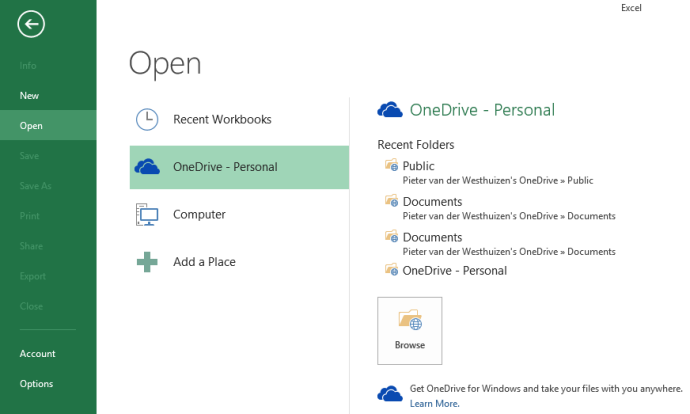 You use OneDrive for your personal files while OneDrive for Business is meant to be used for work.