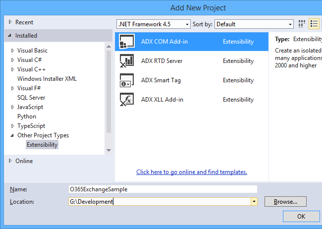 Creating a new COM Add-in project in Visual Studio using Add-in Express