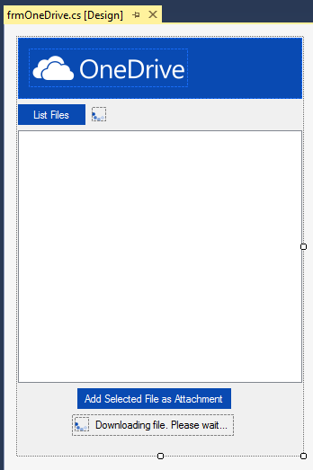 The design of the newly created Outlook form
