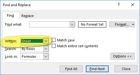 Range Replace() problems in all Excel versions